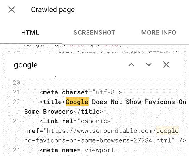 Google URL testing